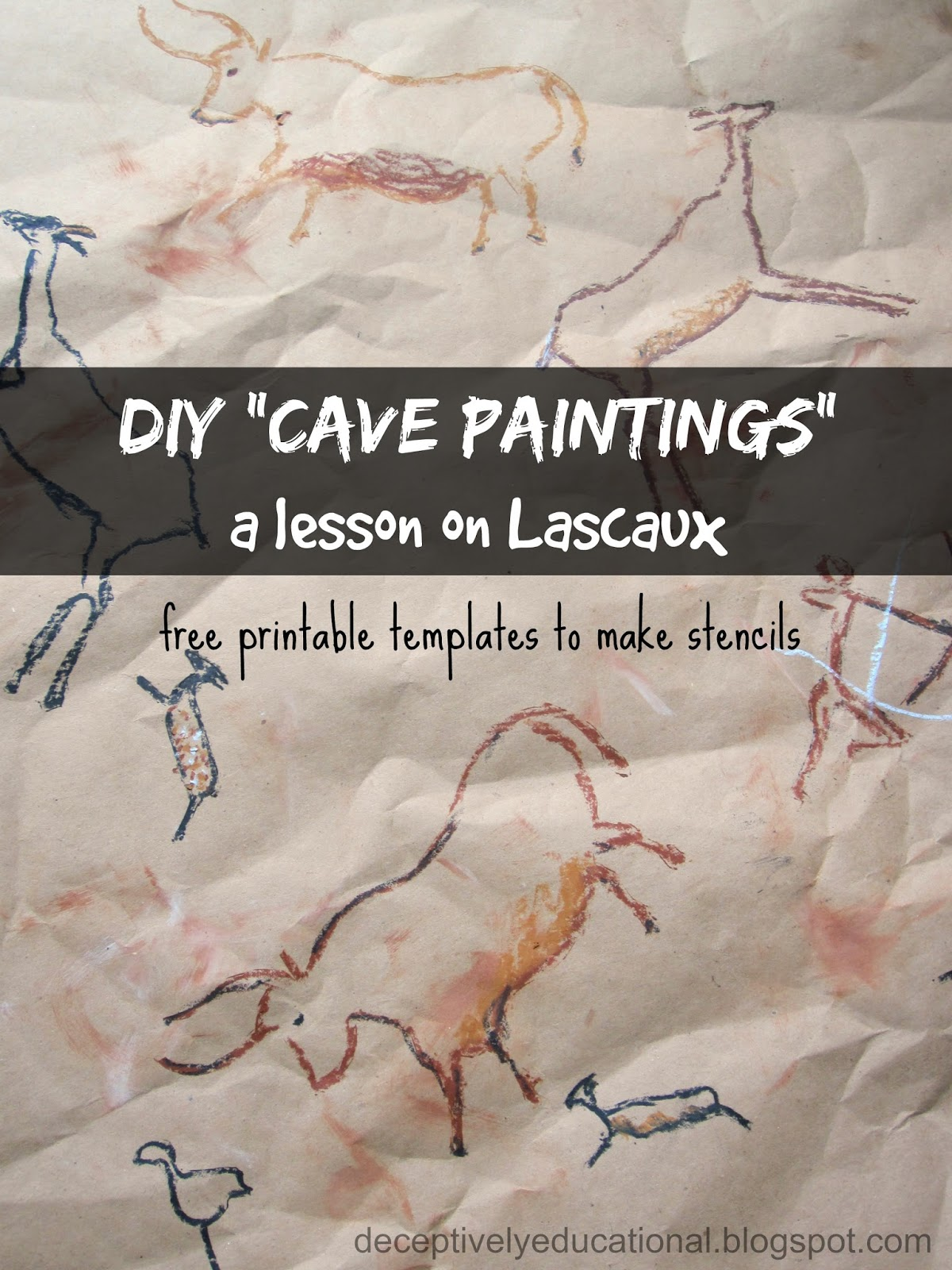 Relentlessly Fun Deceptively Educational Diy Cave Paintings A Lesson On Lascaux