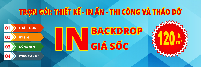 Thi công backdrop quảng cáo giá rẻ tại tphcm