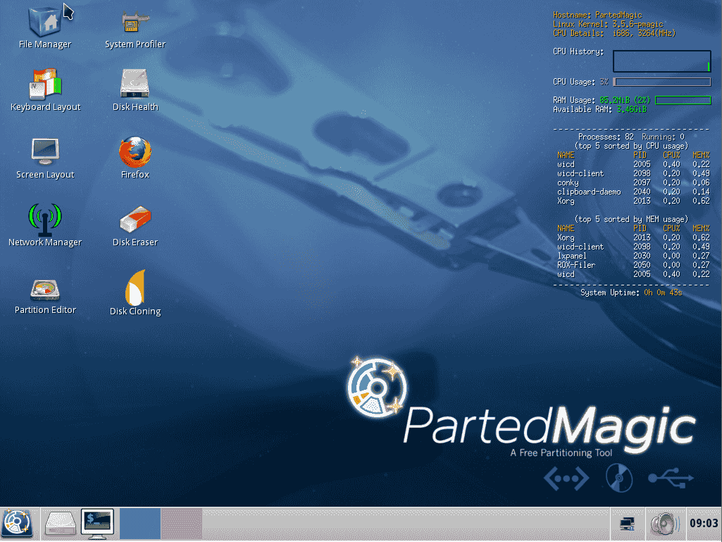 Parted Magic 2012-10-10