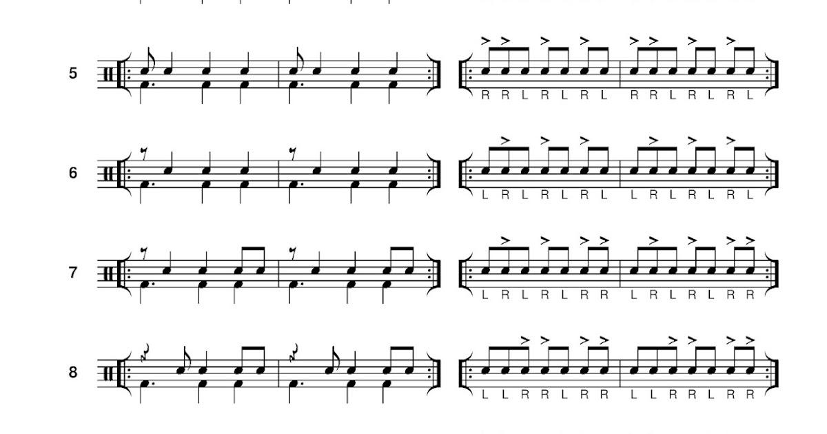 cruise ship drummer 7 8 practice rhythms plus stickings. Black Bedroom Furniture Sets. Home Design Ideas