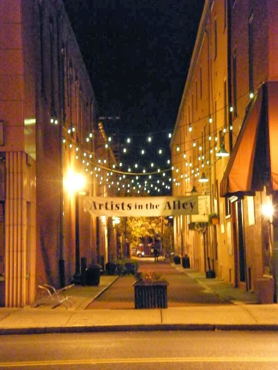 astonishing unique street lighting | The Easton Eccentric: Second Downtown Easton Alley Gets ...