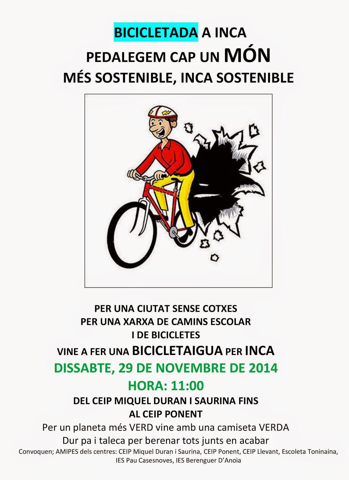 Bicicletada per Inca (29-11-14)