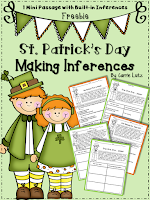 https://www.teacherspayteachers.com/Product/Freebie-St-Patricks-Day-Inferring-One-Mini-Passage-One-Multiple-Choice-1714223