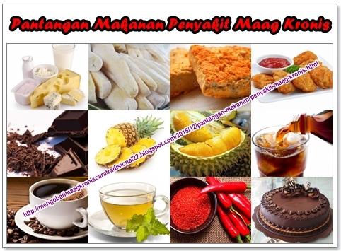 Pantangan Makanan Penyakit Maag Kronis