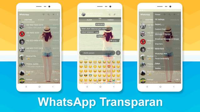 Pengembang dari Royal WhatsApp Transparan adalah Naeem Ahmad (SAM). Selain Royal WhatsApp Transparan ia juga mengembangkan WhatsApp Mod versi lain seperti GB Whatsapp Mini.