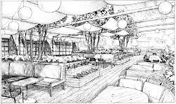 dining drawing architectural area restaurant plans ford community chef fry space buckhead atlanta proposed