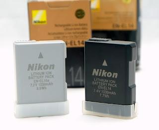 Jual baterai En-EL 14 Nikon D3100, D3200, D3300, D3400, D5100, D5200