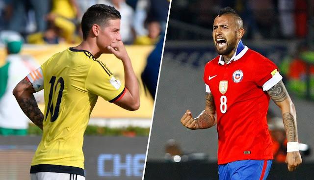 Donde ver Colombia vs Chile EN VIVO: Canales, Hora. Partido OnLine