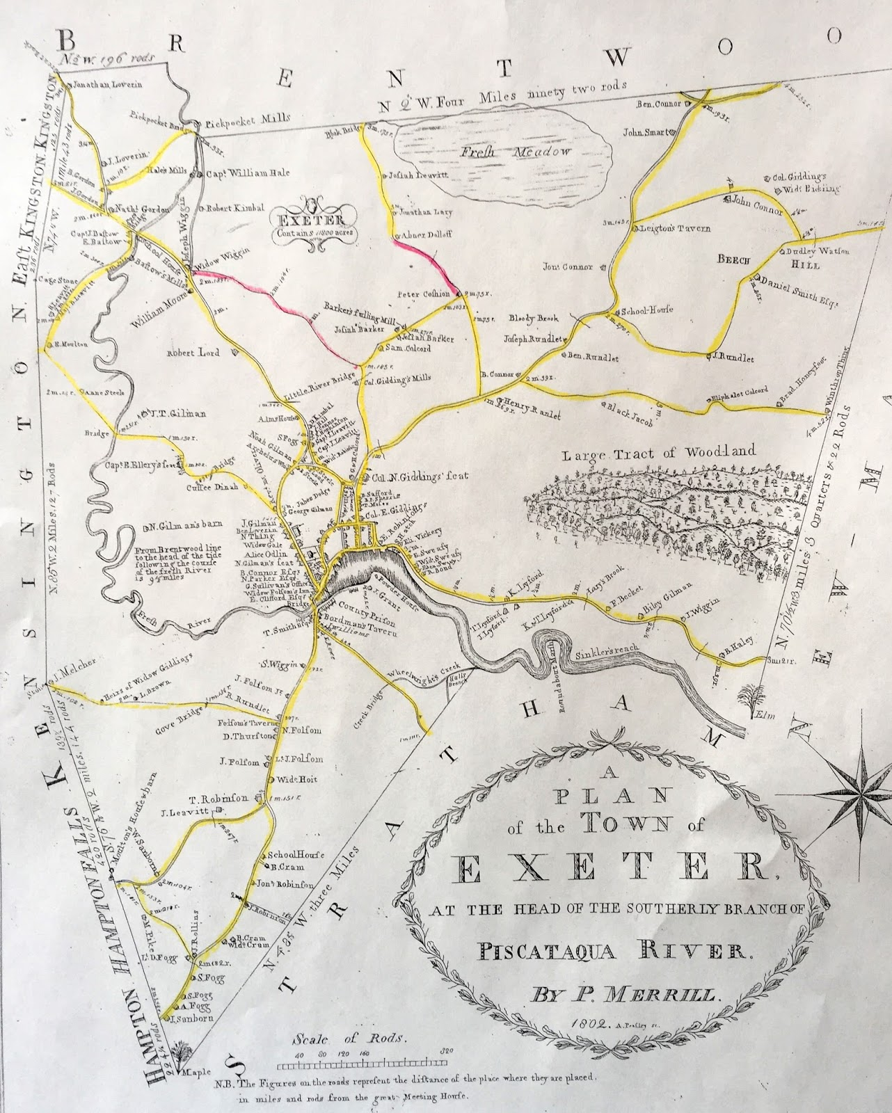 Ghost Roads of Exeter on map of hampton nh, town of somersworth nh, map of brentwood commons nh, map of nottingham nh, map of route 101 in nh, map with boundaries of seabrook nh,