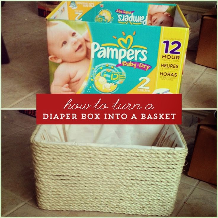 how to make a baby basket out of diapers