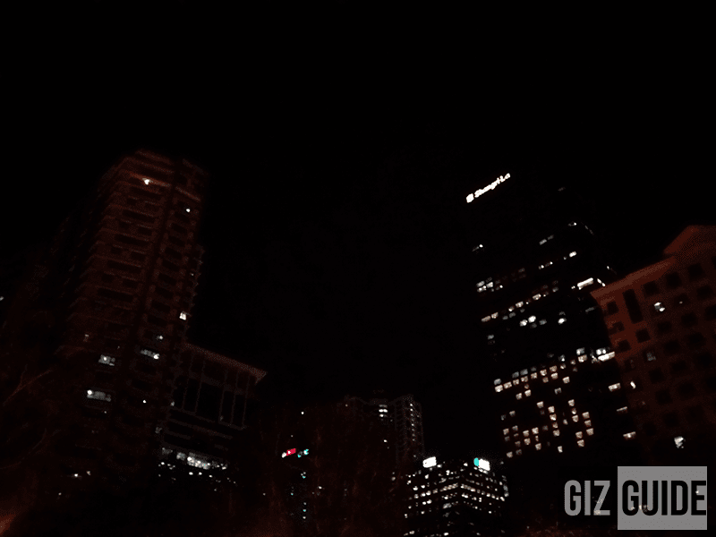 Night skyscraper shot