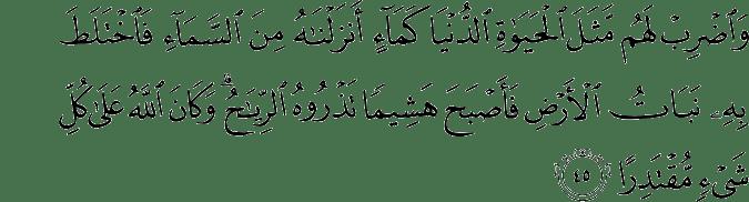 Surat Al Kahfi Ayat 45