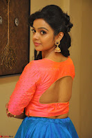 Nithya Shetty in Orange Choli at Kalamandir Foundation 7th anniversary Celebrations ~  Actress Galleries 072.JPG