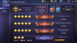 Archievement Mobile Legends