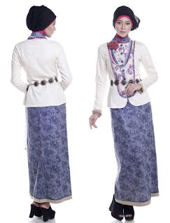 Baju Muslim Pesta Brokat Kombinasi Batik