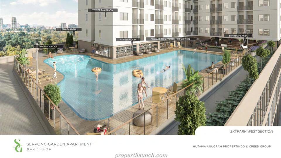Swimming Pool Apartment Serpong Garden
