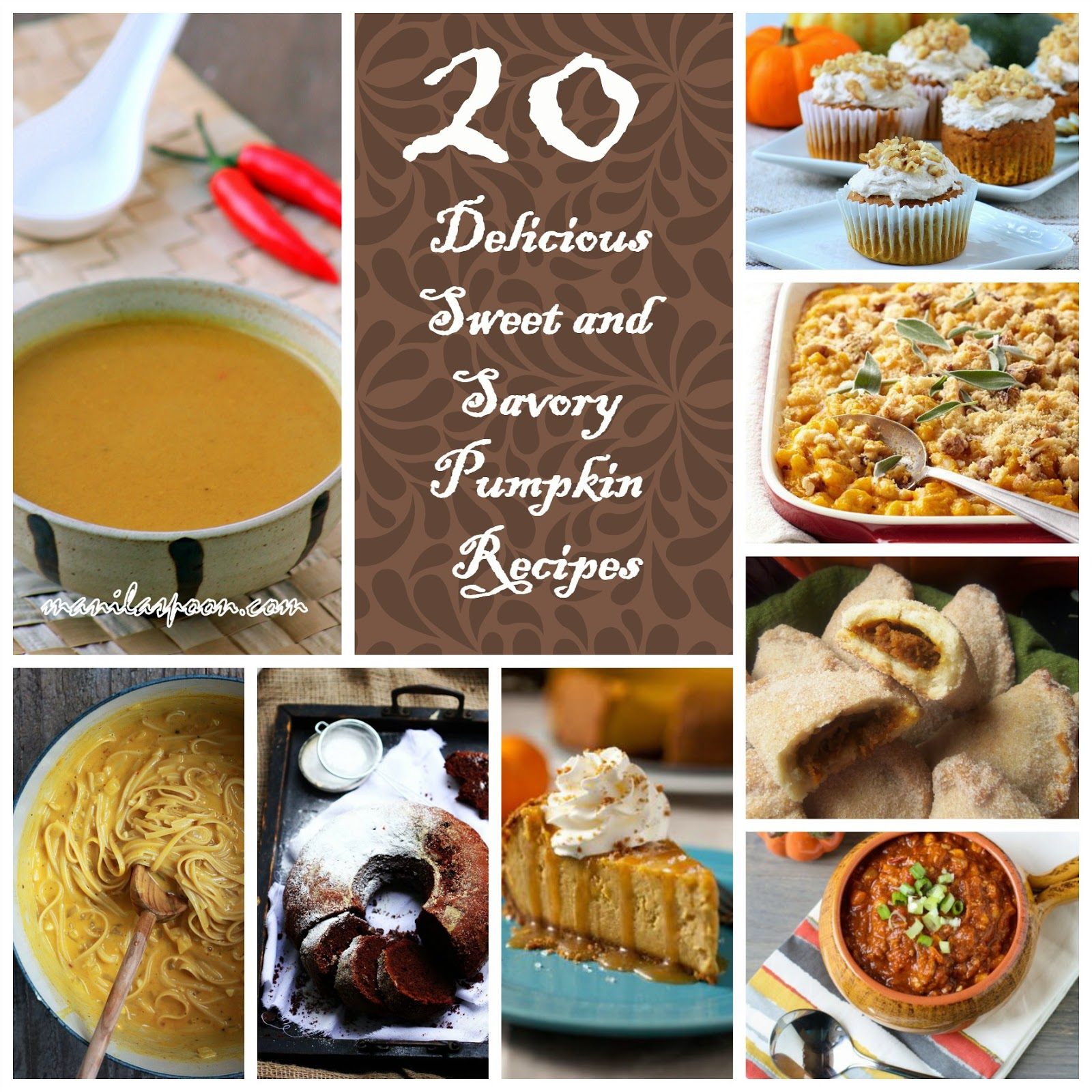 20 Delicious Sweet and Savory Pumpkin Recipes