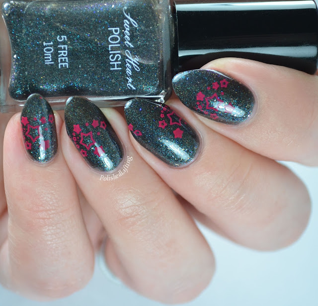 Sweet Heart Polish Twinkle Twinkle with star stamping