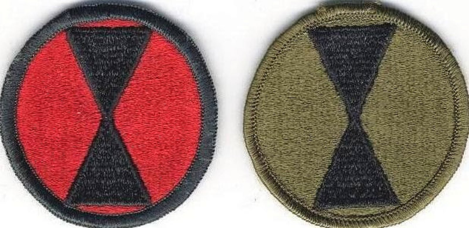 7th INFANTRY DIVISION (LIGHT) - COLORED AND CAMOUFLAGED