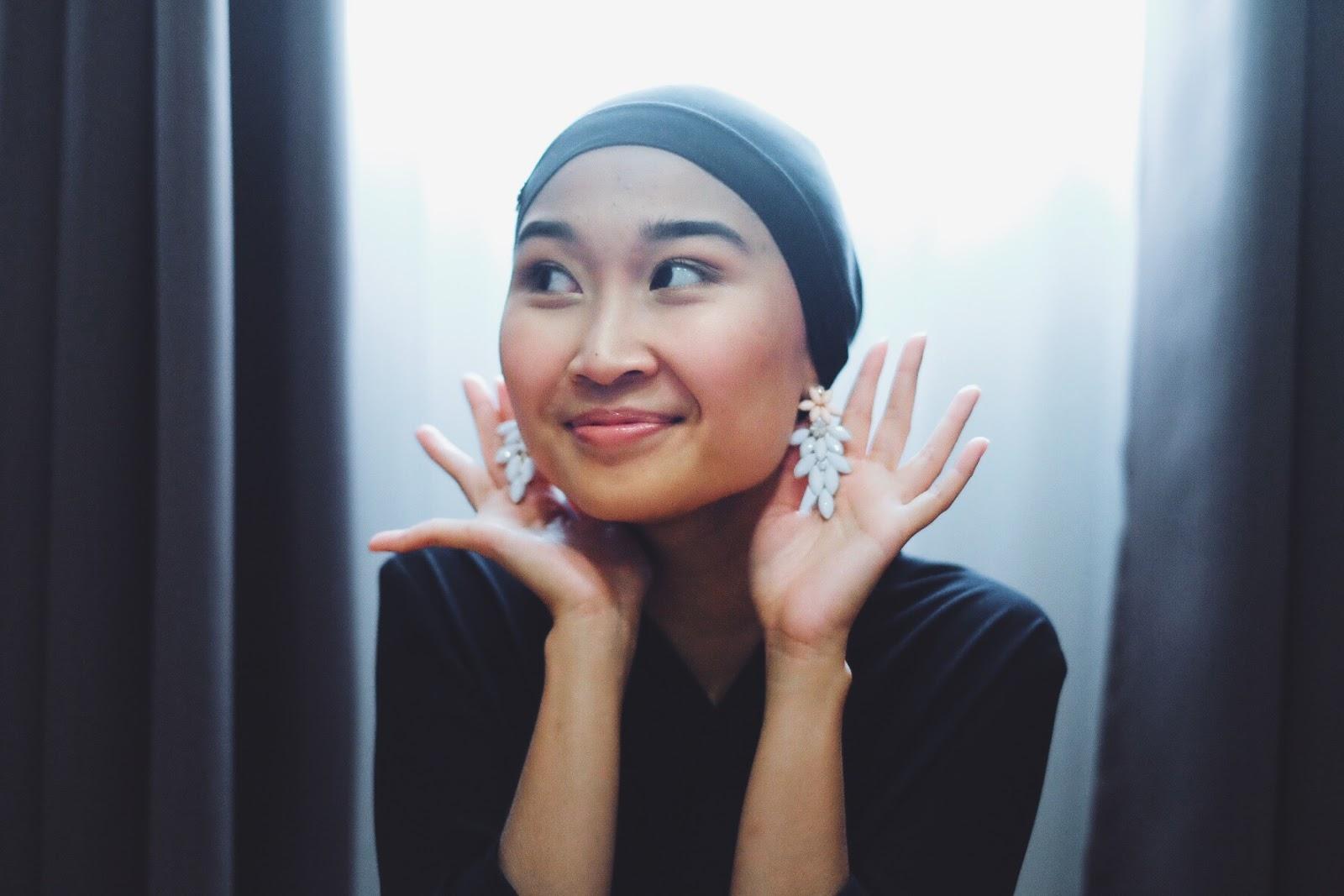 How I Style Hijab With Earrings Lipstickmyname