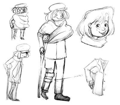 Elora's Sketchcan: Scrooge Studies for David's Class
