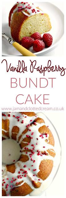Vanilla Raspberry Bundt Cake