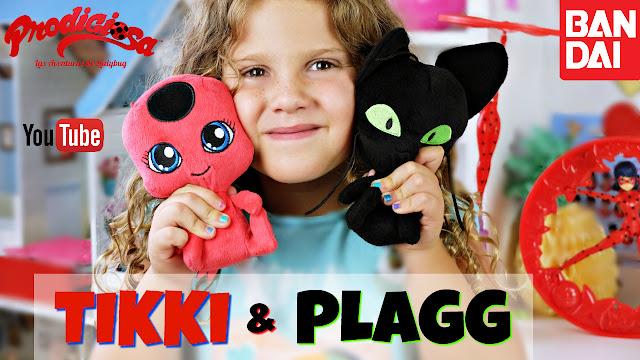 Peluches Tikki & Plagg mascotas de Ladybug y Cat Noir - juguetes prodigiosa ladybug - miraculous ladybug toys