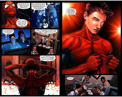 Tony Stark convince Peter Parker a aderire all'atto di registrazione