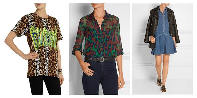 Топ, блузка и сникеры с леопардовым принтом