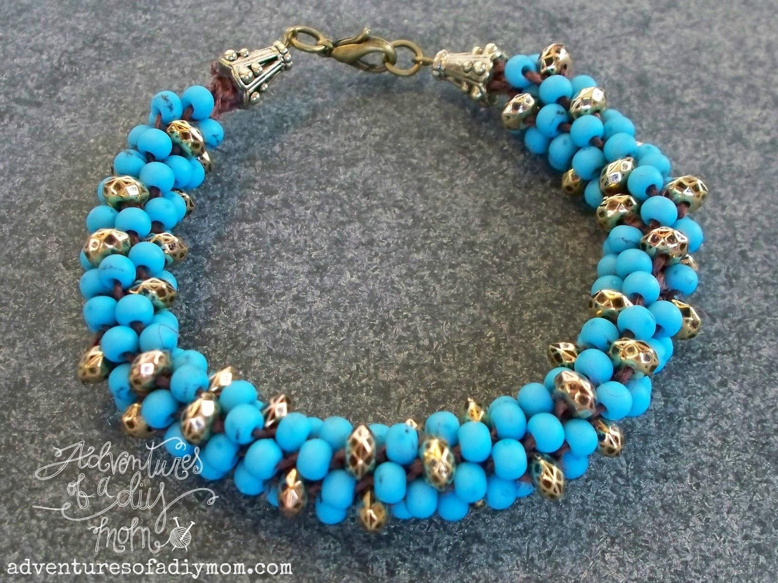 Kumihimo Beaded Bracelets Tutorial - Adventures of a DIY Mom