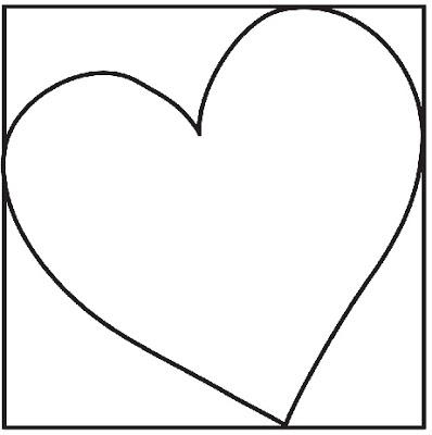 Cartão com coração carimbado pra mamãe