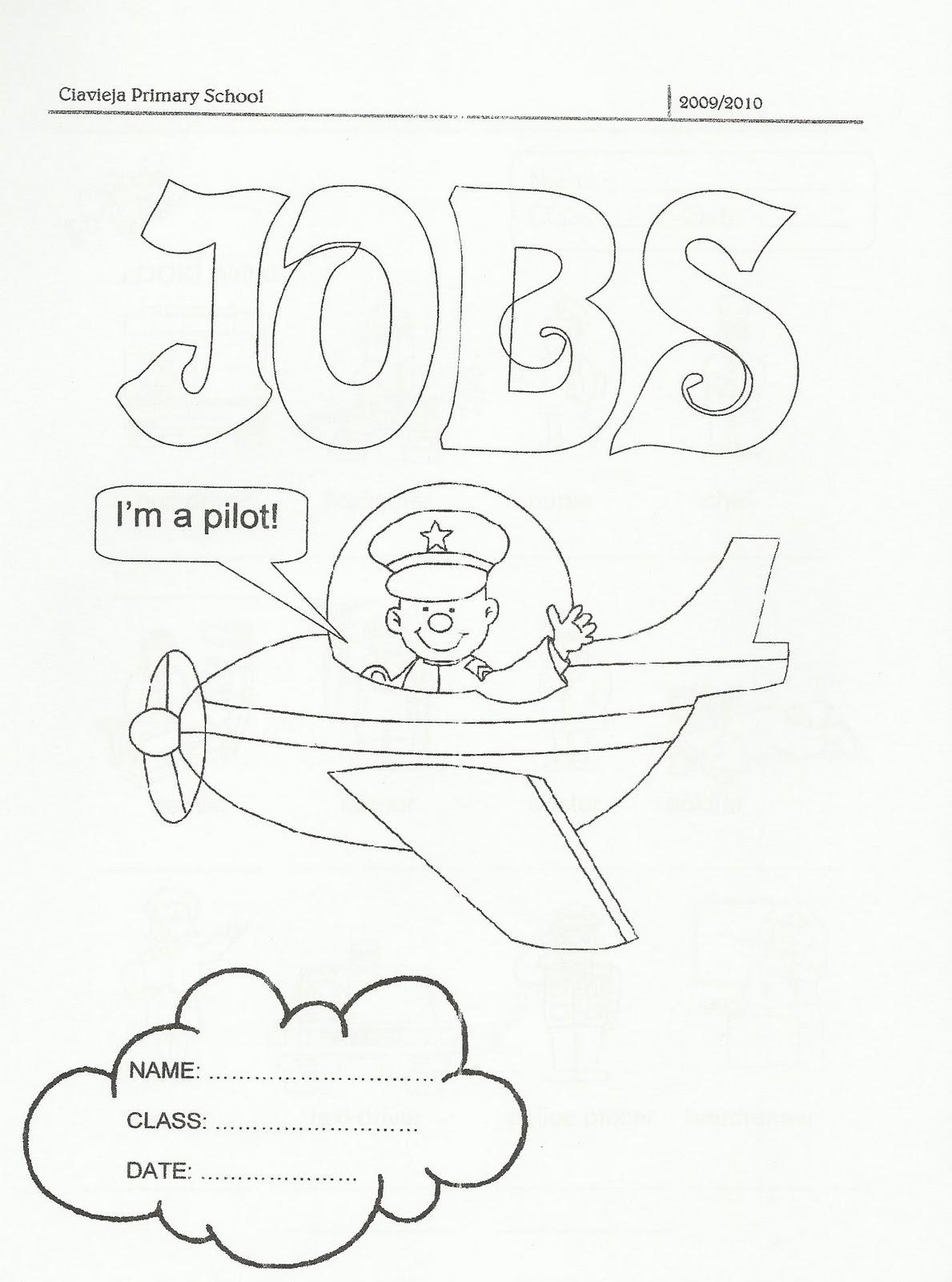 Ciavieja Bilingue Blog Worksheet About Jobs
