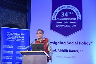 Prof. Abhijit Banerjee delivers Exim Bank's 34th Commencement Day Annual Lecture