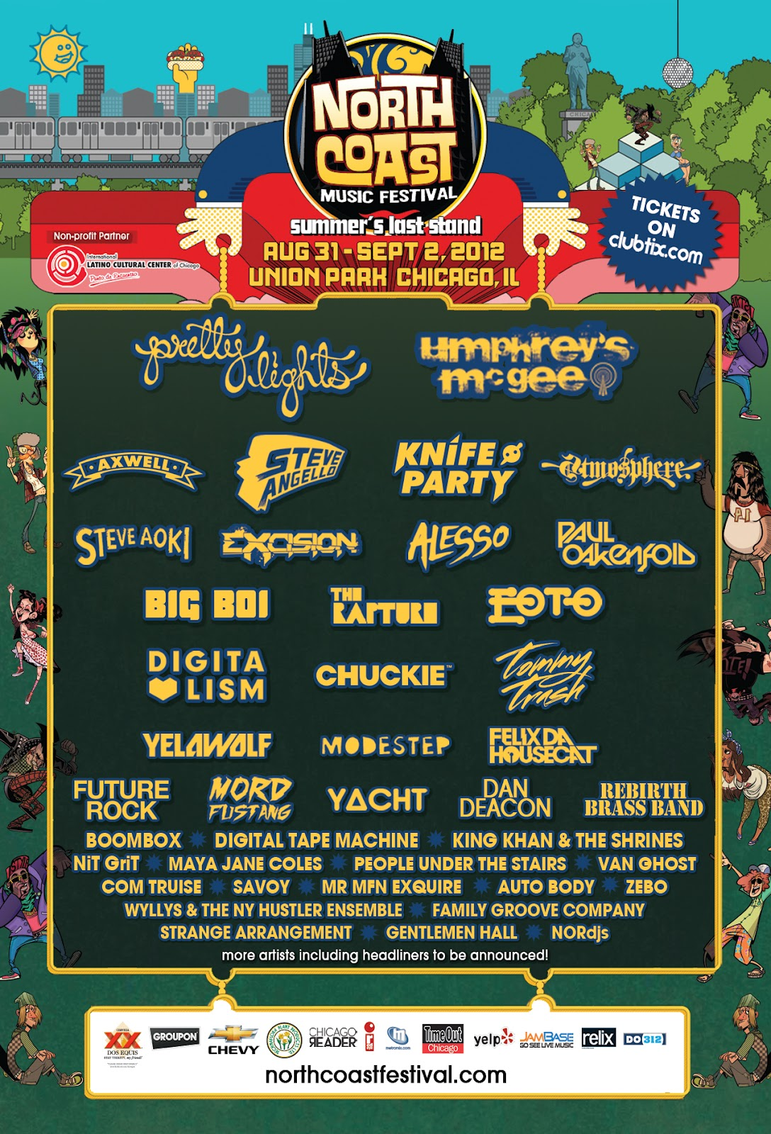 4ce6587097457 ChiIL Live Show's Must Sees--North Coast 2012 #NCMF @northcoastfest