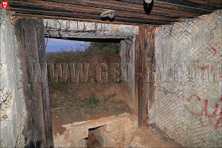Амбразуры полукапонира №19 Слуцкого укрепрайона линии Сталина
