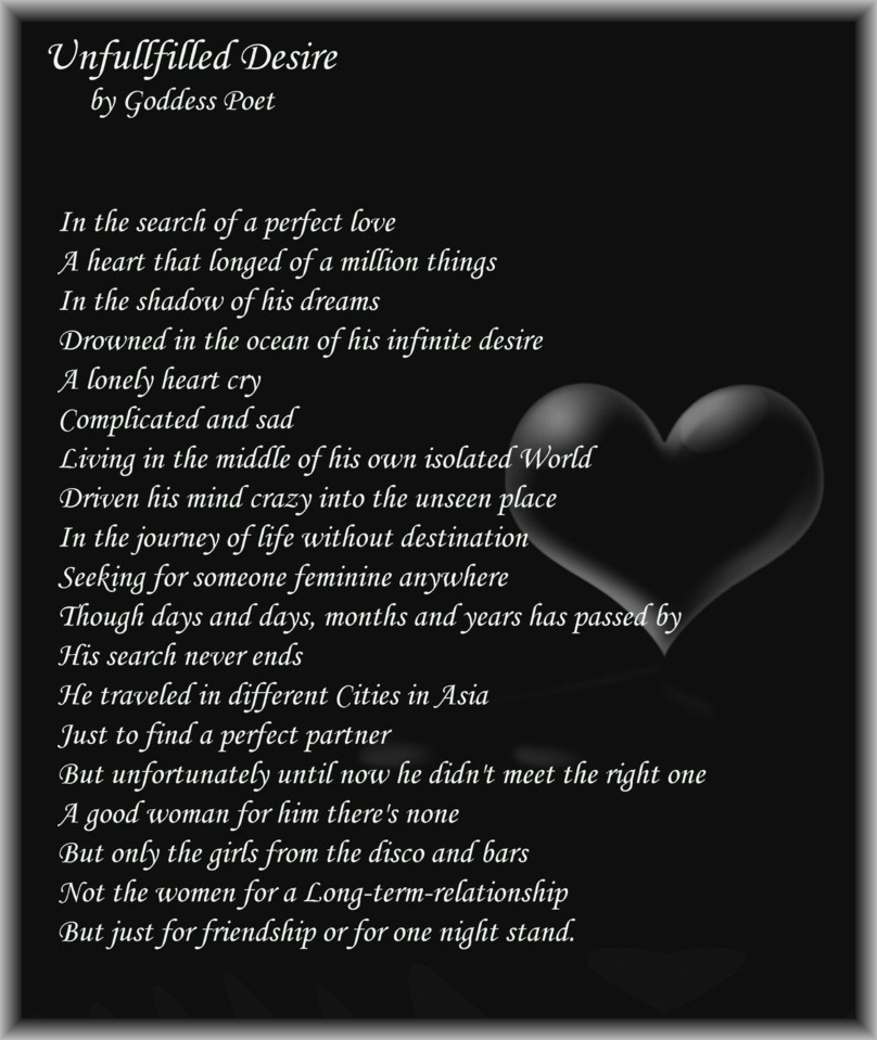 Motivational Poem About Love: Inspirational Poems And Quotes: Unfulfilled Desire