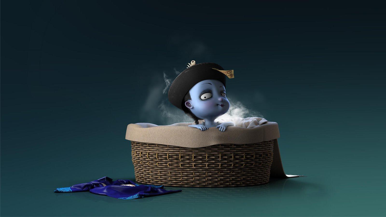 Tải hình ảnh nền Cương Tiểu Ngư dễ thương cute cho máy tính.