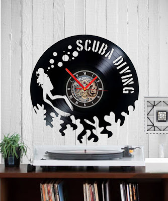 Scuba Diving Record Clock