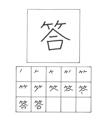 kanji menjawab