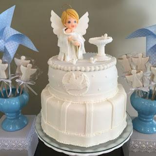 Bolo batizado anjo