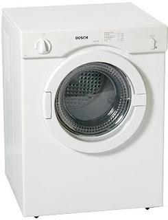 Foto de una secadora color blanco