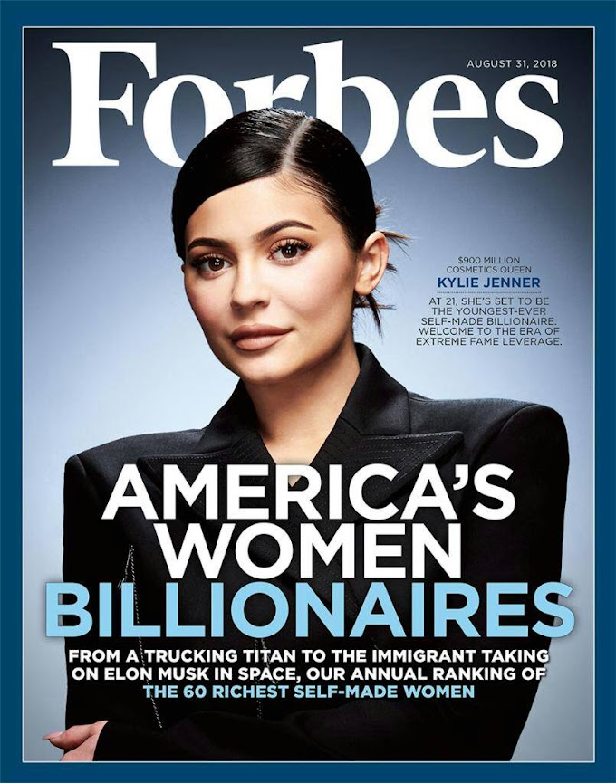Kylie Jenner Covers The Latest Issue Of Forbes; Set To Become The Youngest Self Made Billionaire At 21!