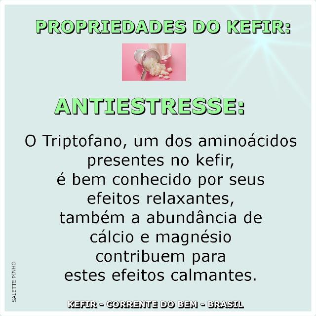 PROPRIEDADES DO KEFIR: ANTIESTRESSE