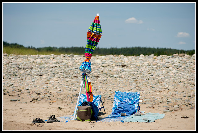 Nova Scotia; Hirtle's Beach; Beach; Atlantic; Shore; Maritimes; Umbrella