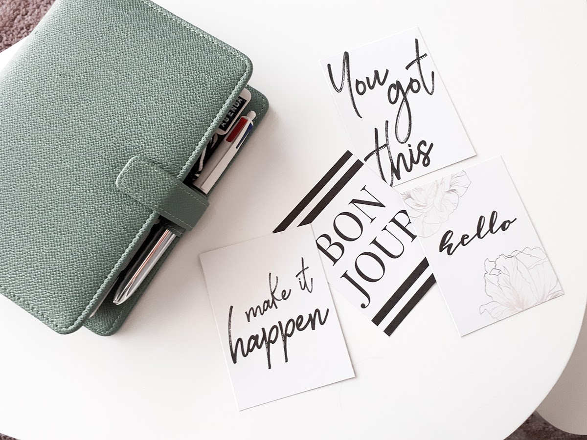 Mes cartes journaling minimalistes et girly [Printable]