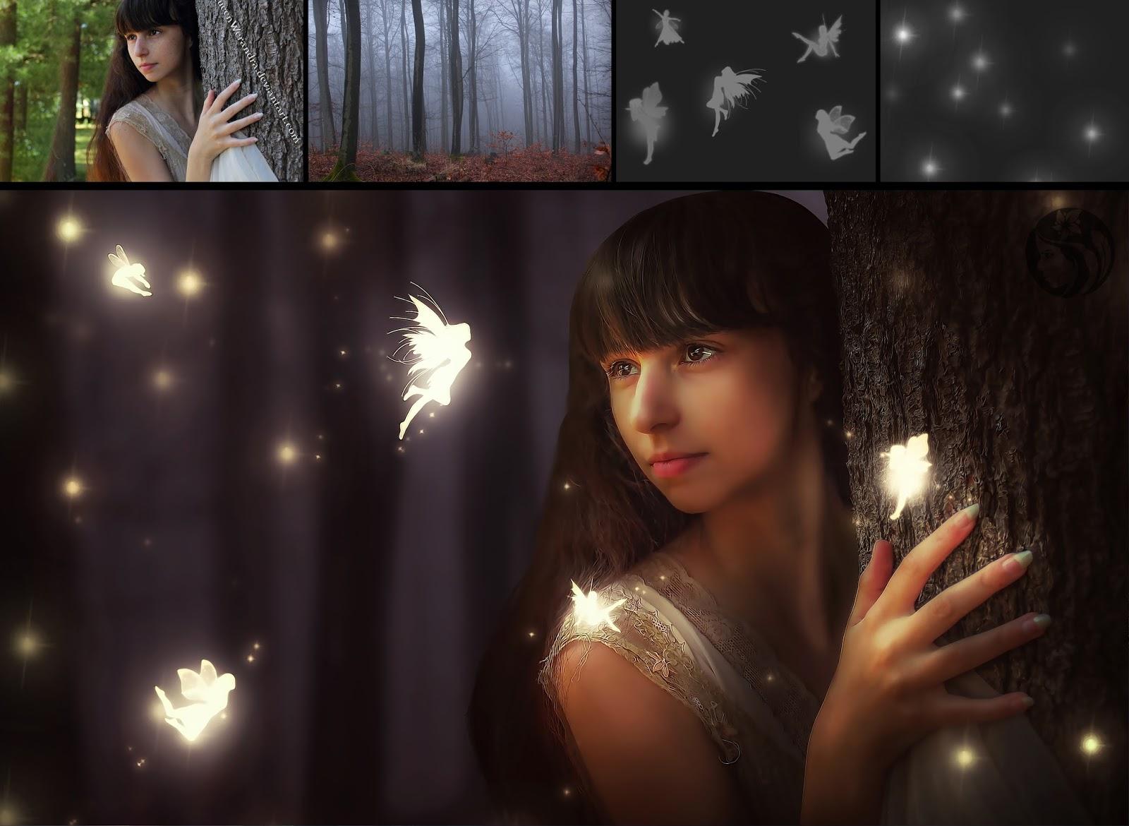 Fairy forest photo manipulation photoshop tutorial baditri Image collections