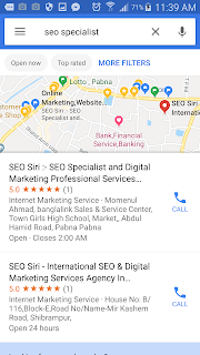 "strong phrase keywords "" seo specialist "" local result from Google Maps"
