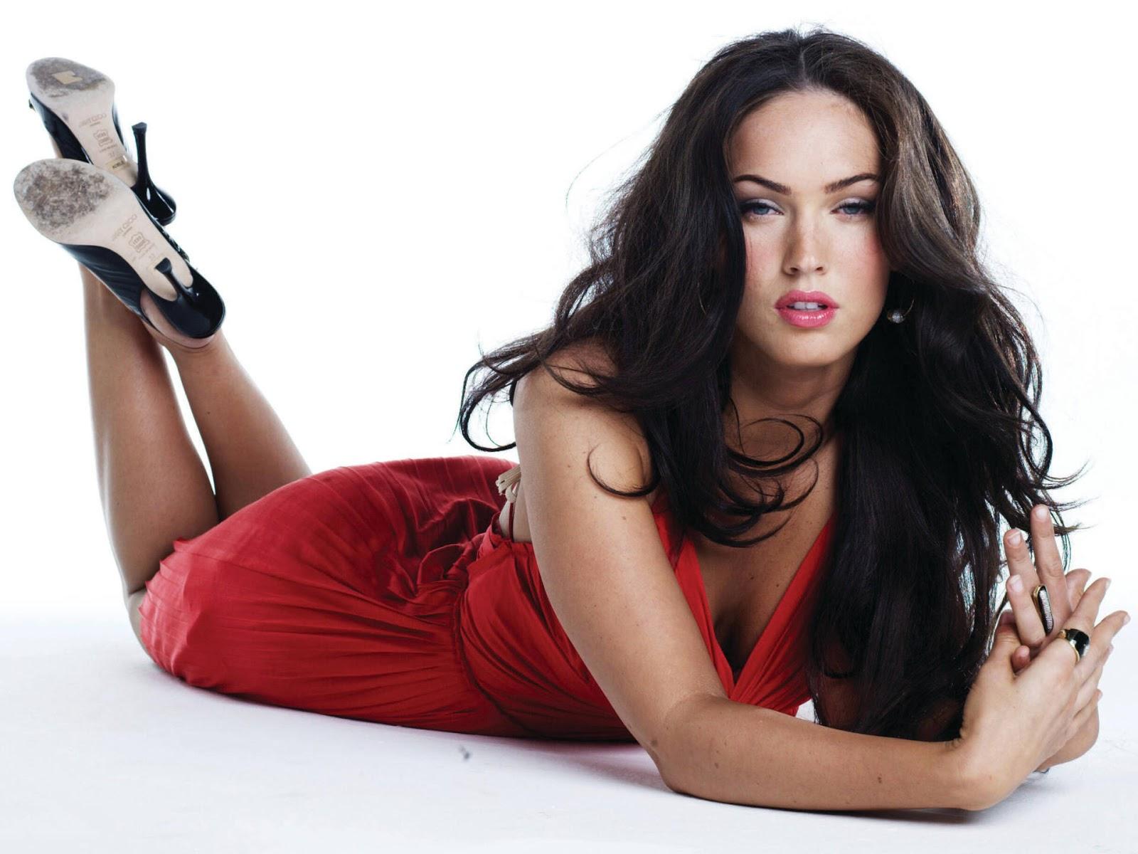 Megan fox sexy vestido rojo
