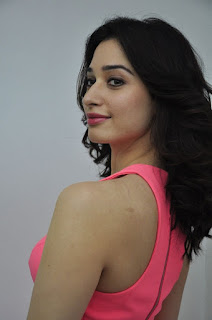 Actress Tamanna Stills in Pink Dress at Oopiri Movie Interview  0006