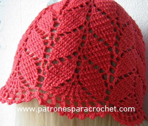7 Patrones de Sombreros muy femeninos para tejer al Crochet 95774c62665